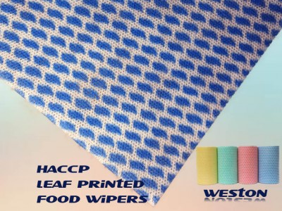 HACCP standard printed food service spunlace non-woven