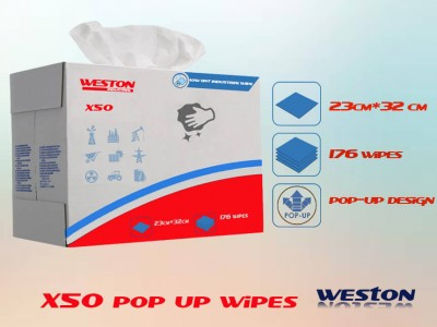 Weston x50 similar to wypall 8355 pop-up box woodpulp spunlace wipes