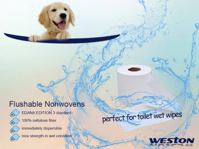 Flushable Nonwovens for Toilet Wet Wipes