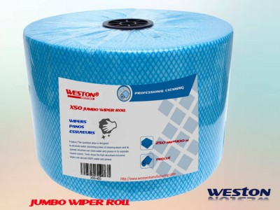 HACCP Perforated Spunlace Jumbo Wiper Rolls Similar to Wypall X50 Spunlaced Cloth Large Roll