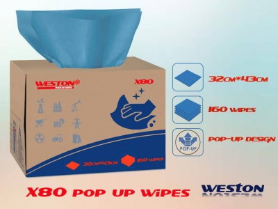 Wypall x80 similar wipes lint free brag box absorbent cloth